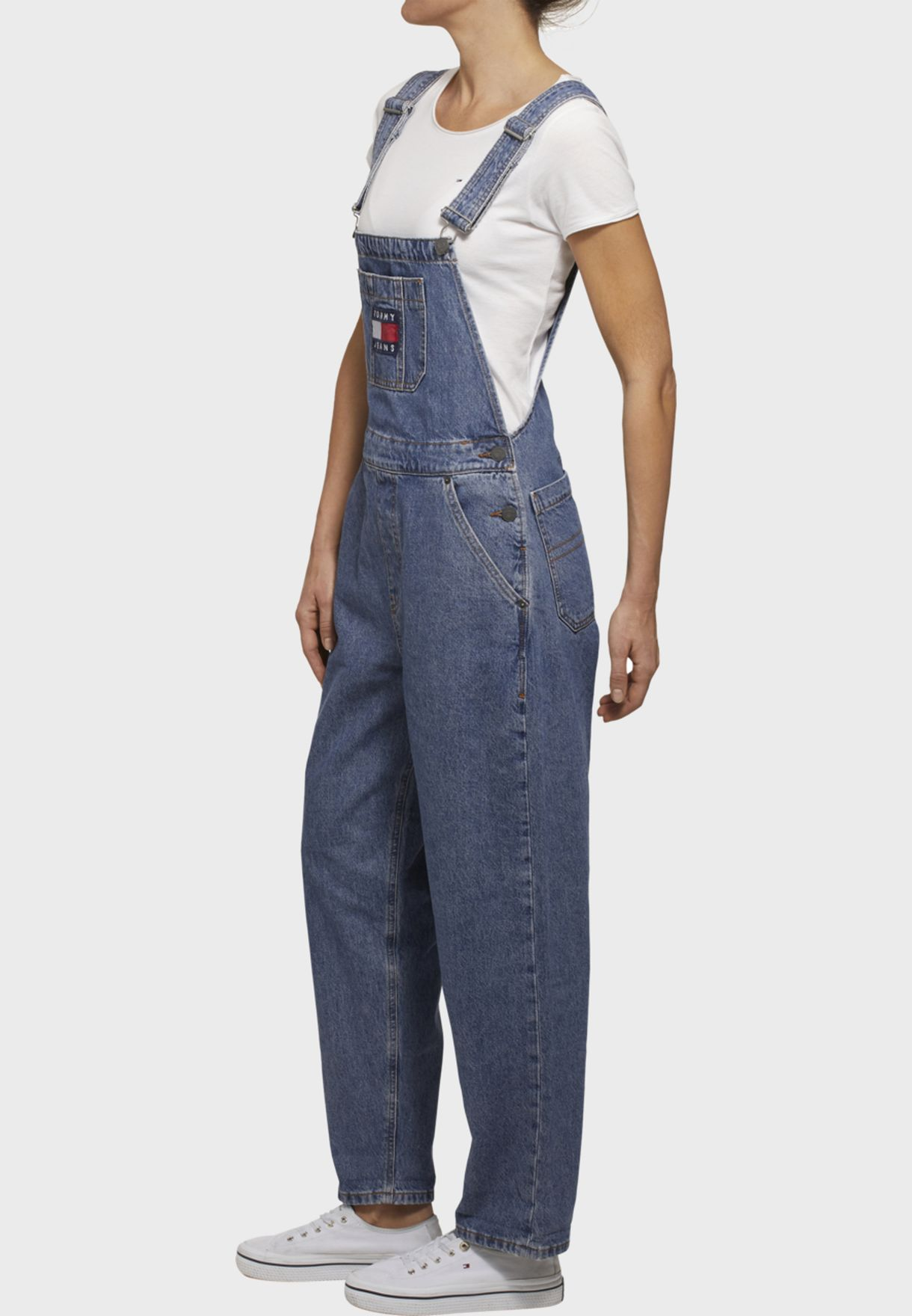 Logo Denim Dungaree