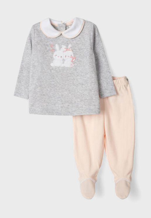 Infant Little Bunnies Pyjama Set