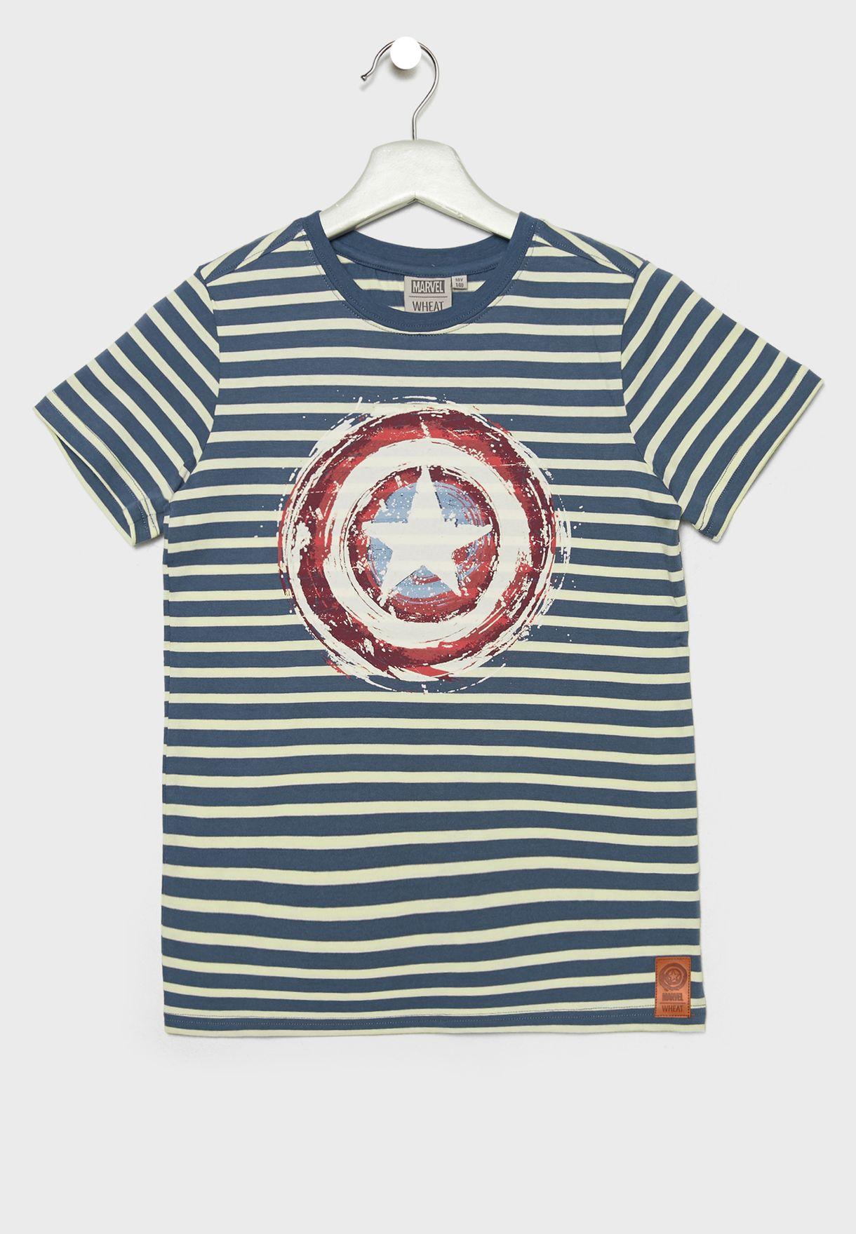 new style d7762 bebcd Kids Captain America T-Shirt