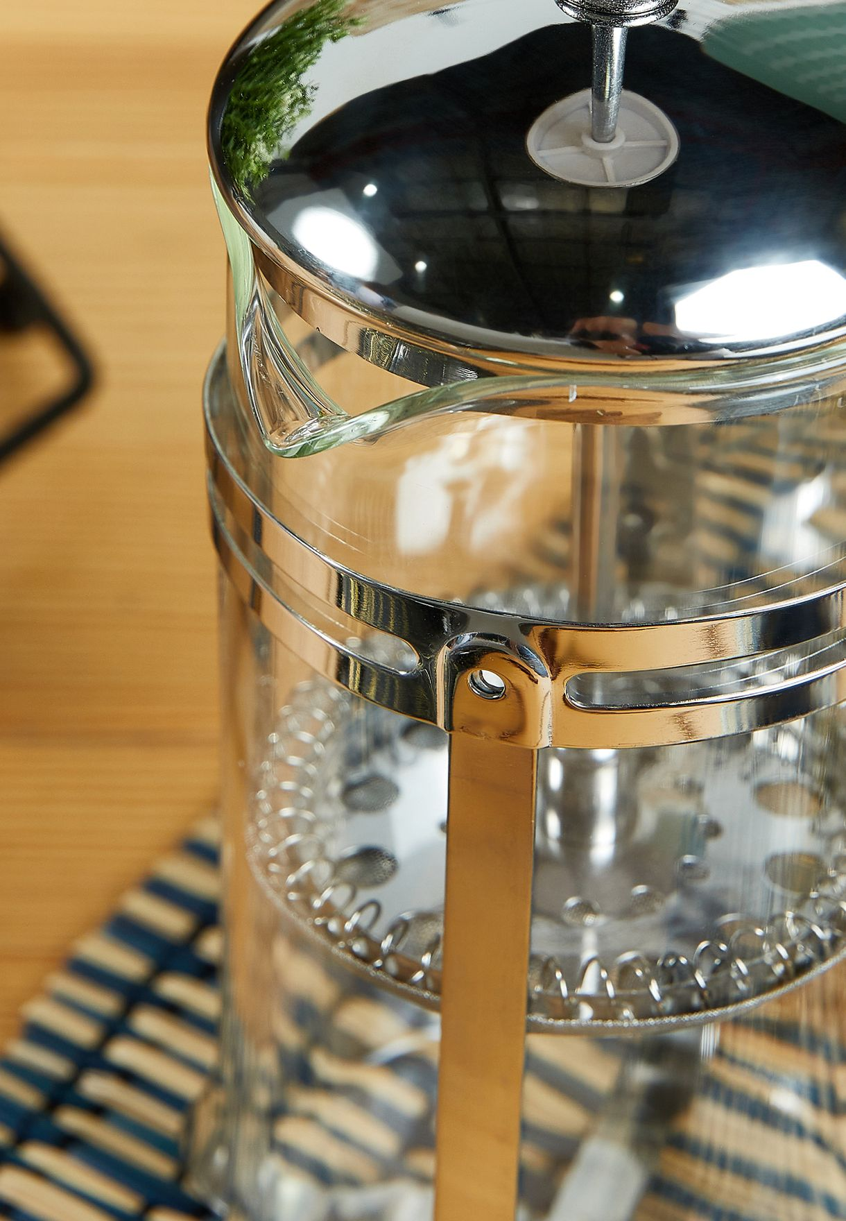 2 Cup Chrome Glass Cafetiere