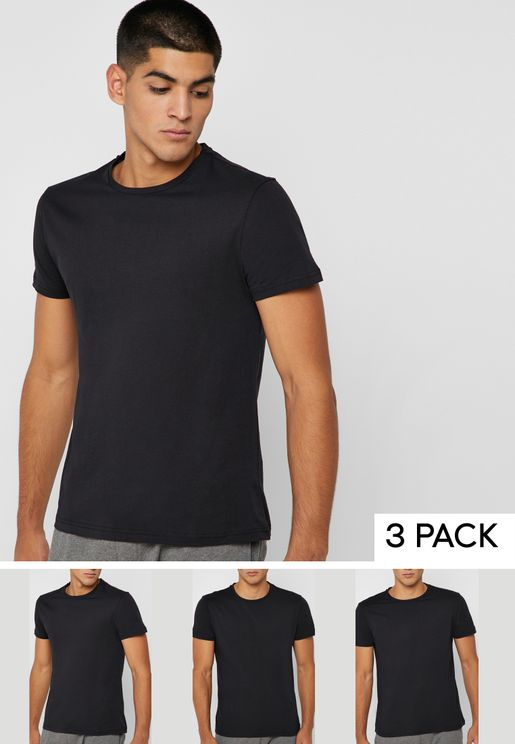 3 Pack Essential Crew Neck T-Shirts