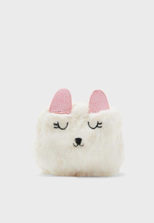 Fluffy Llama Mini Cosmetic Bag