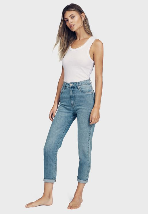 Casual Stretch Straight Jeans