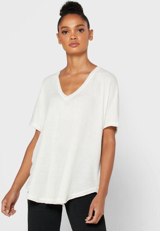 V-Neck Oversized T-Shirt