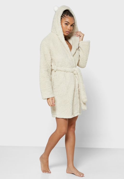 Pom Ear Hooded Robe