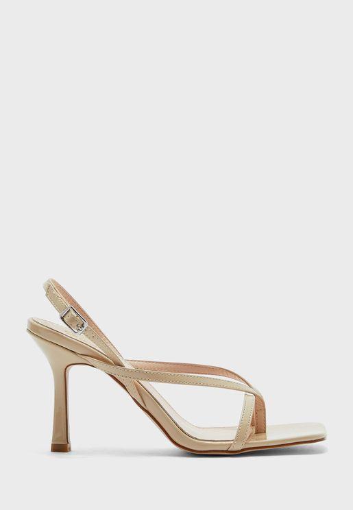 Strappy Slingback Square Toe Sandal