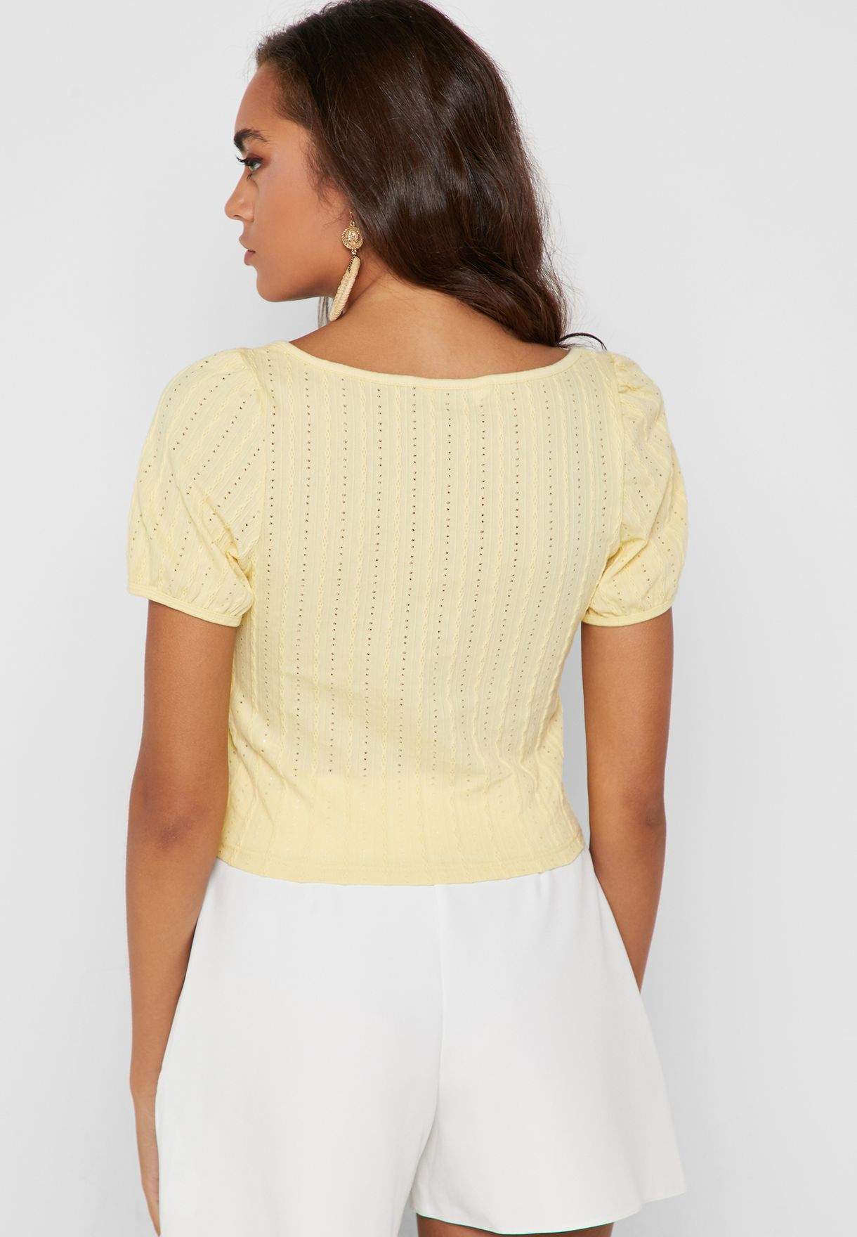 Button Down Ribbed Top
