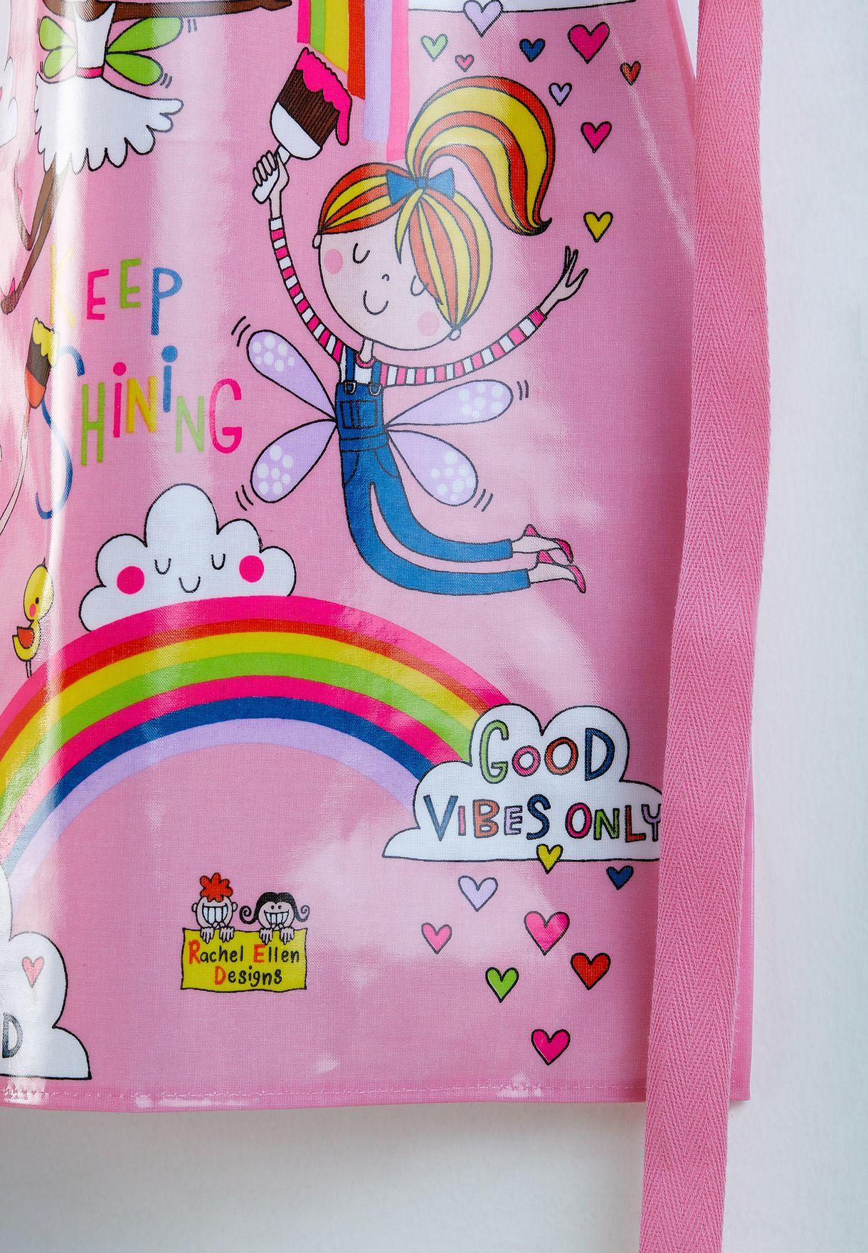 Kids Paint A Rainbow & Fairies Apron
