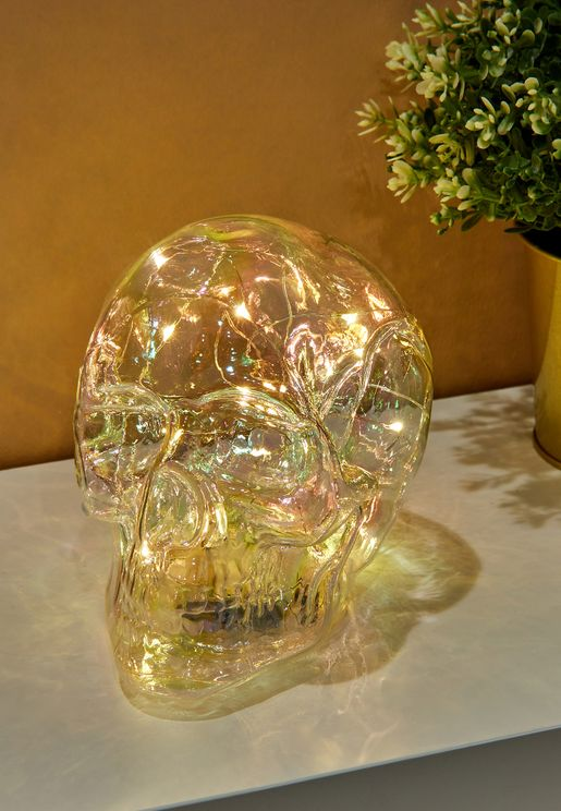 Iridescent Skull Lamp