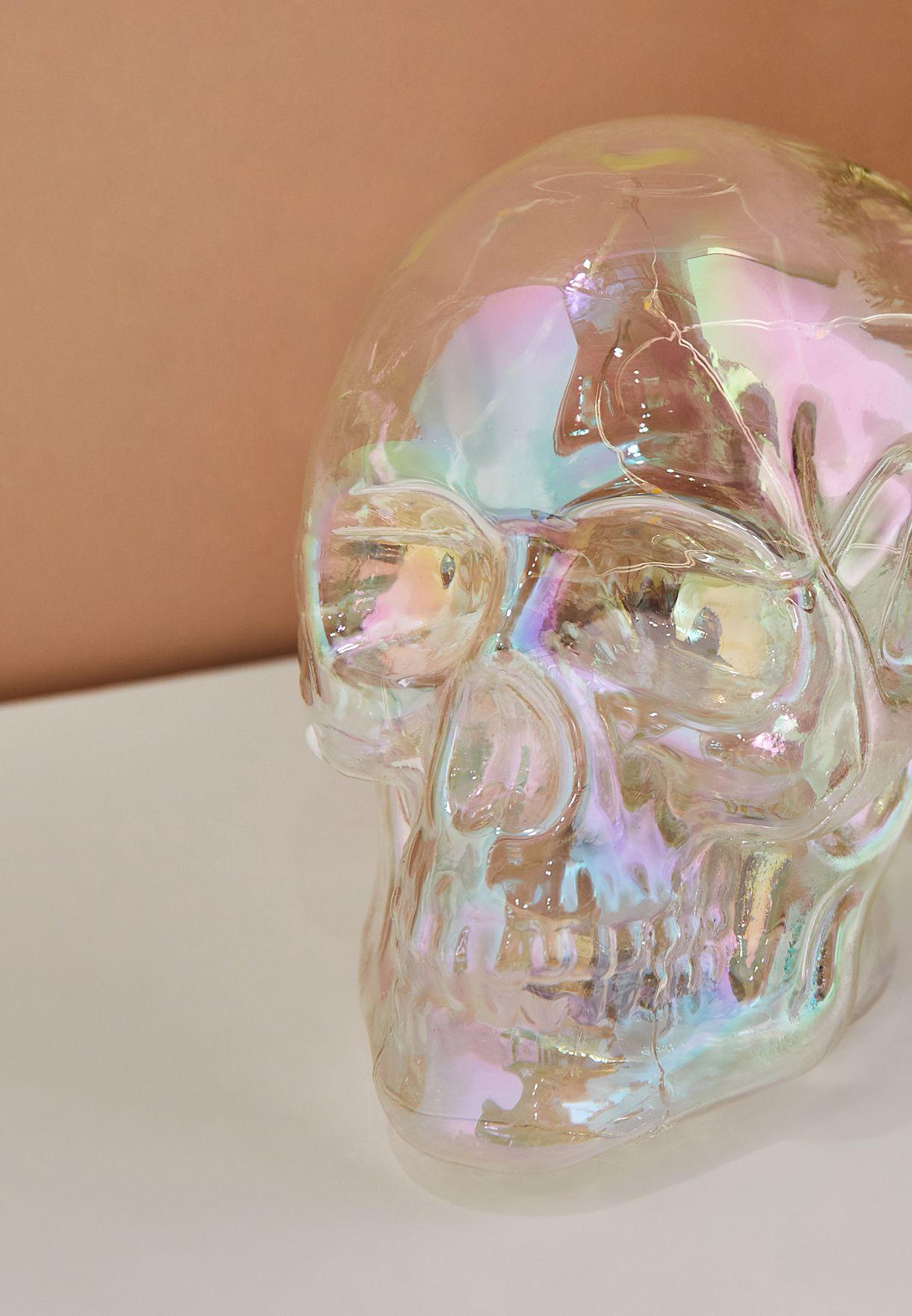 Iridescent Skull Lamp