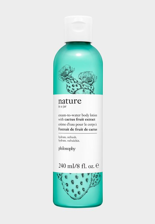 Cream-To-Water Body Lotion With Cactus Fruit Extract, 120Ml