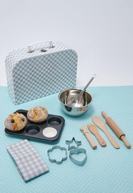 حقيبة لعب للاطفال تحتوي على قطع للخبز