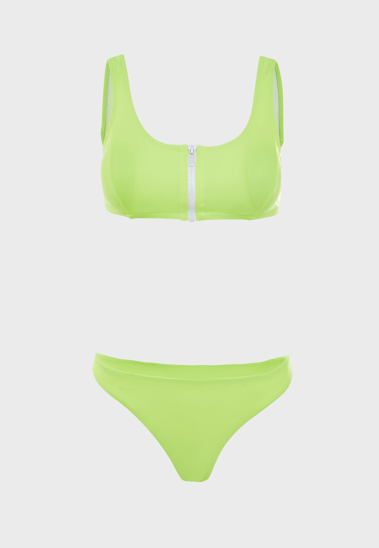 Suri Zip Through Bikini Set
