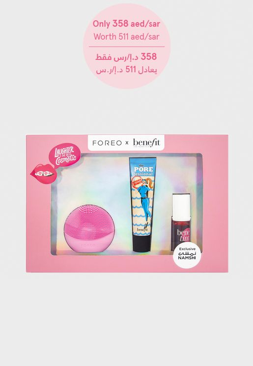Benefit x Foreo Box worth 511 aed/sar, 30% Saving