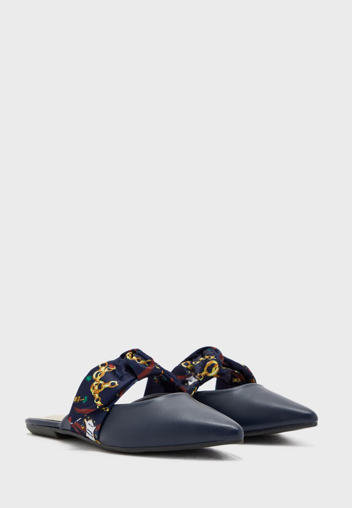 Bow Detail Flat Slip On
