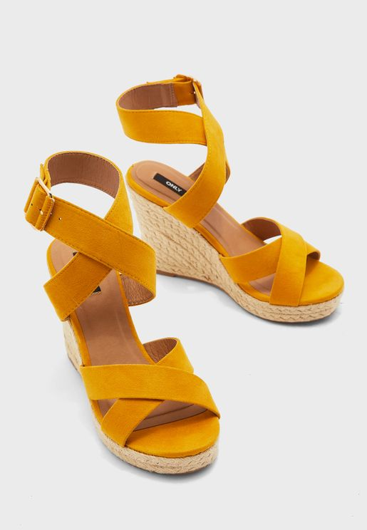 Amelia High Heel  Wedge Sandal