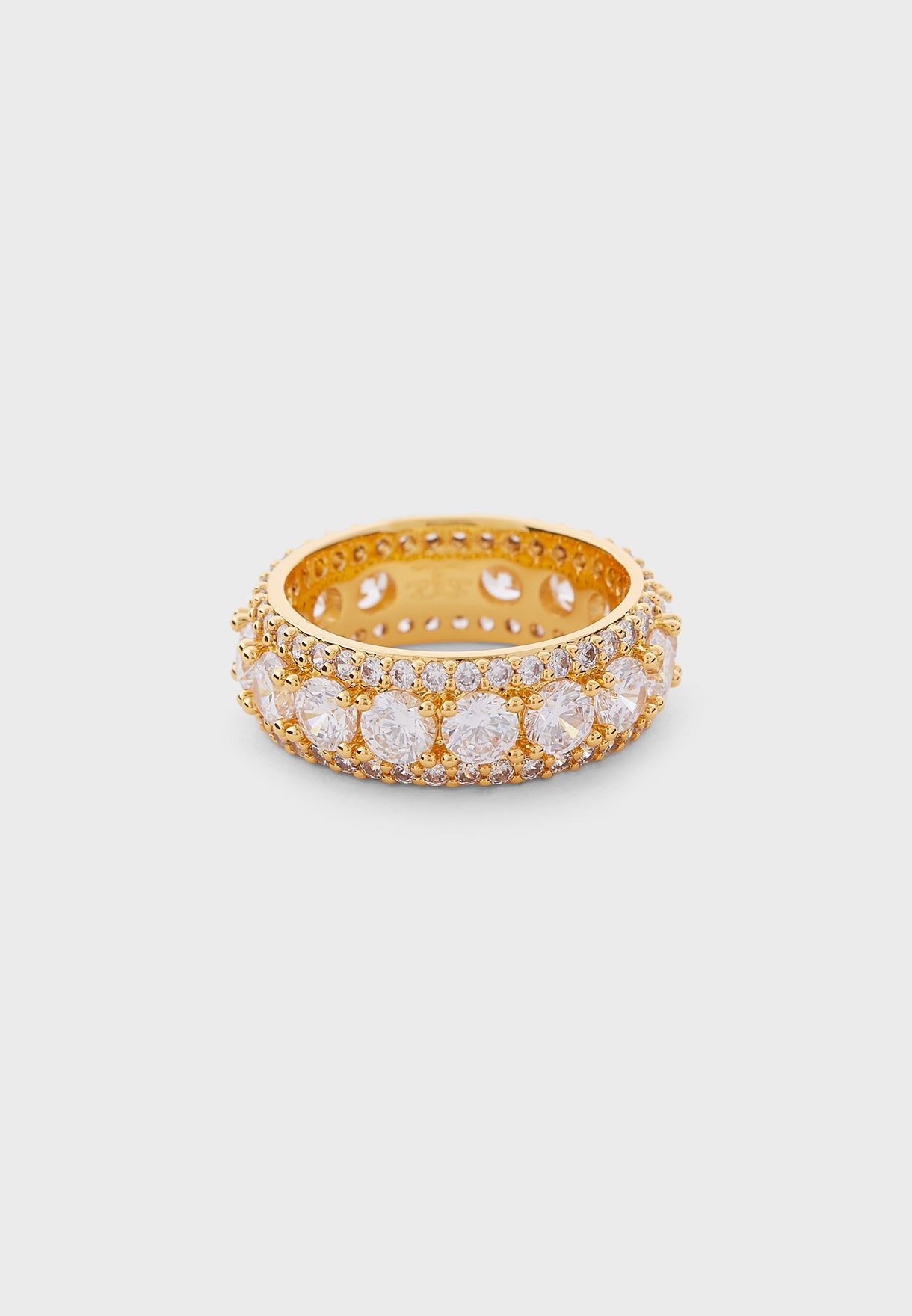 خاتم مرصع مطلي بالذهب