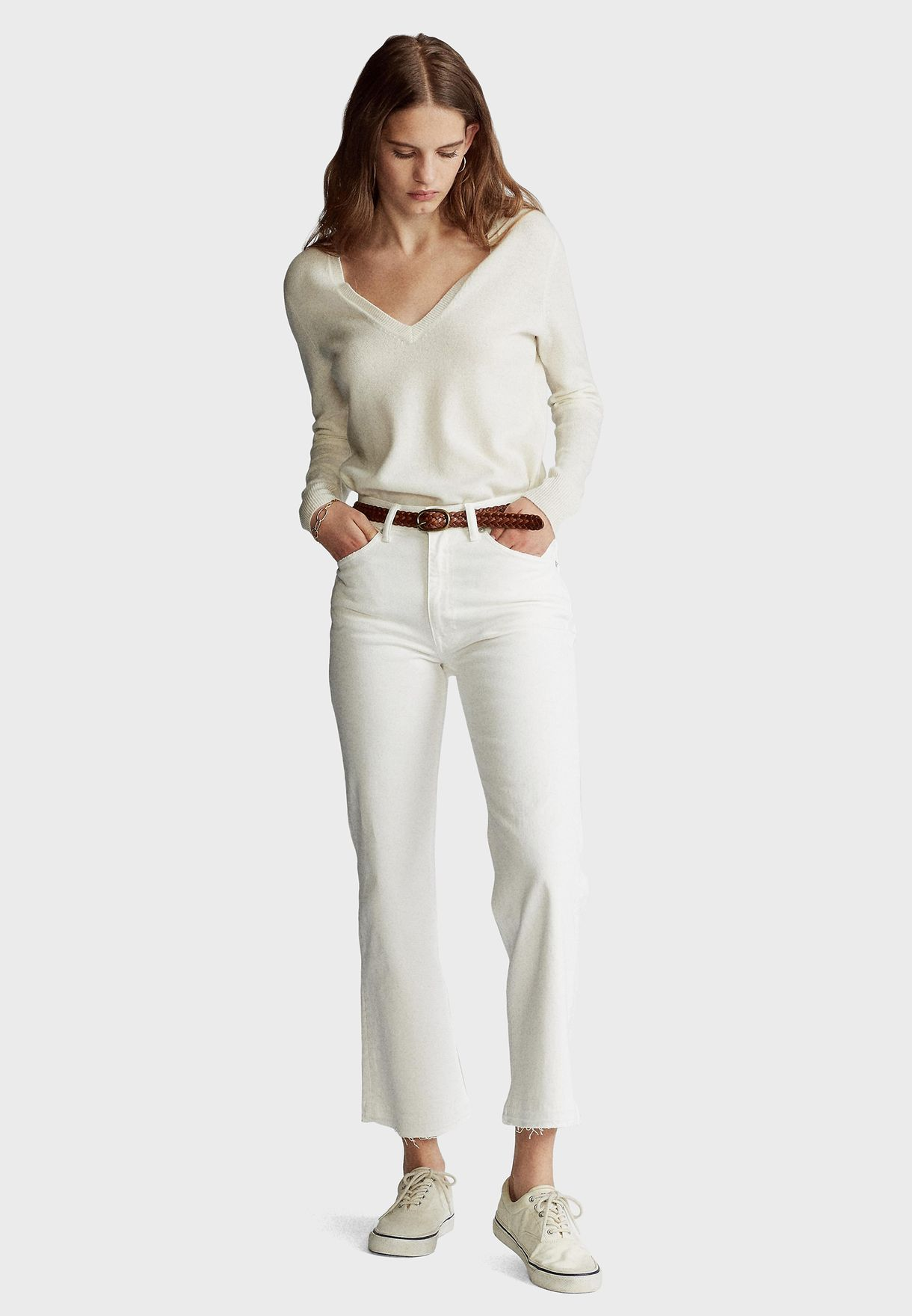 Raw Hem Straight Jeans