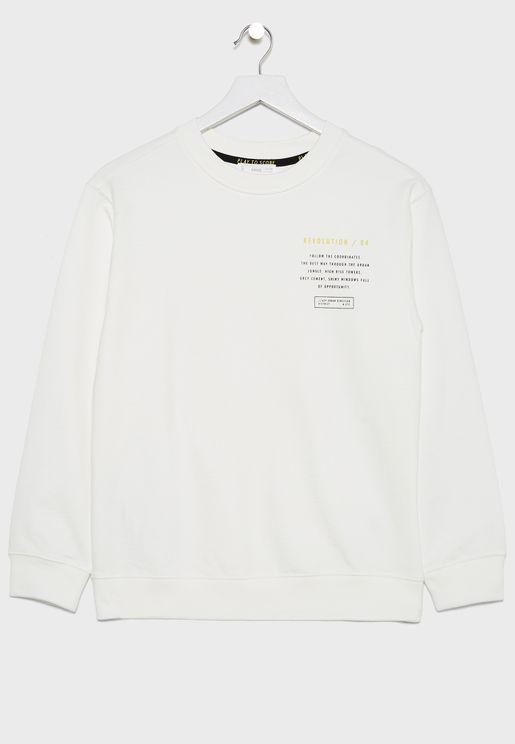 Kids Slogan Sweatshirt