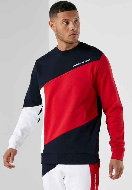 Terry Colour Block Sweatshirt