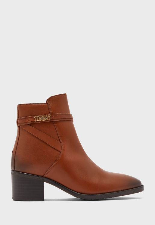 Block Branding Ankle  Boot