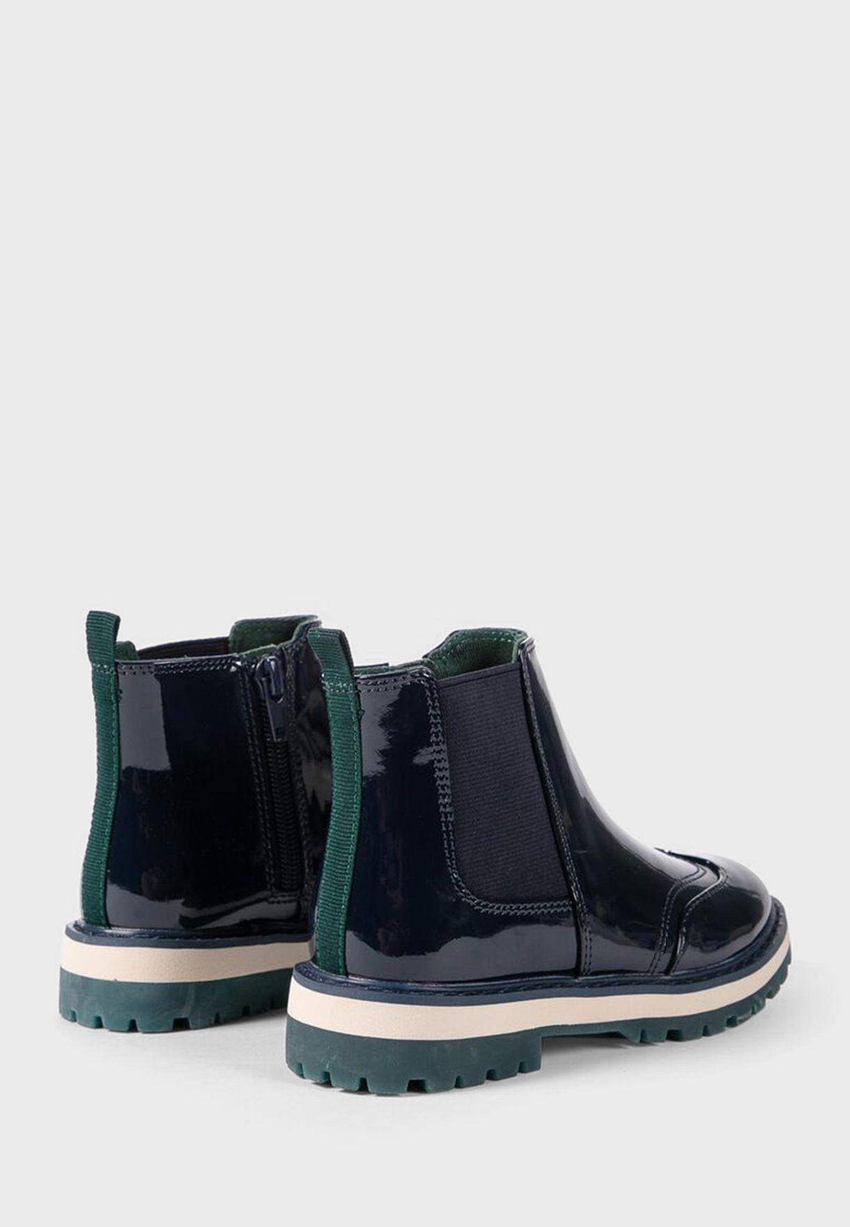 Kids Patent Boot