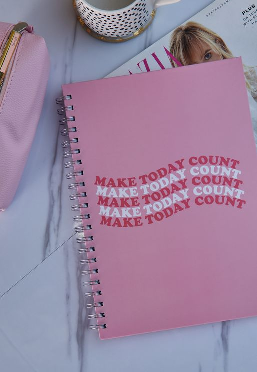 A4 Make Today Count Notebook