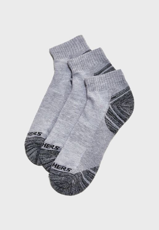3 Pack Quarter Crew Socks