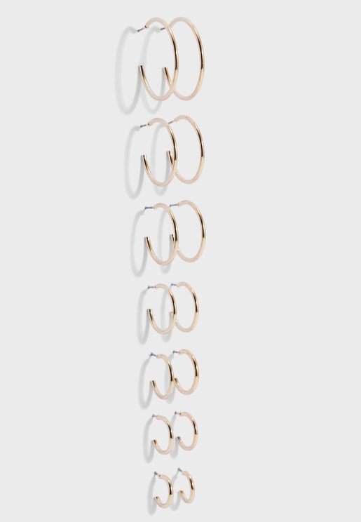 Multipack Hoop Earrings
