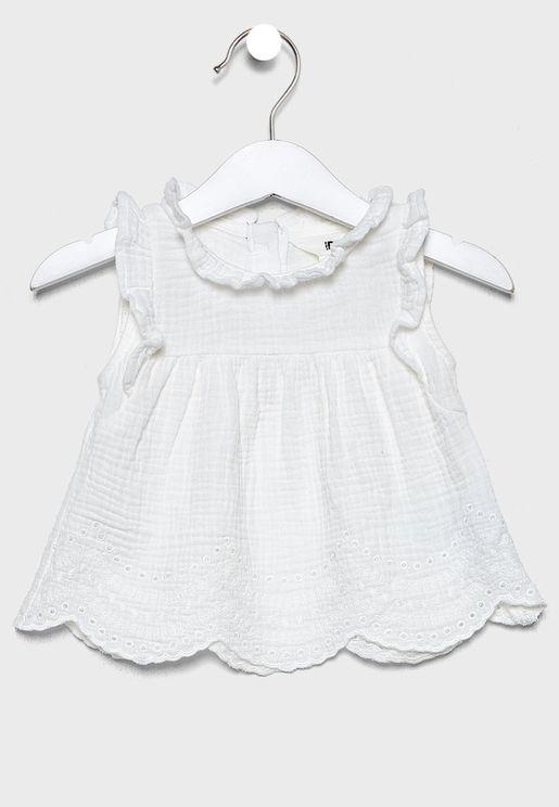 Infant Hem Embroidered Dress