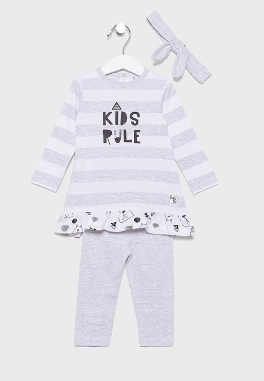 Infant 3 Piece Stripped Gift Set