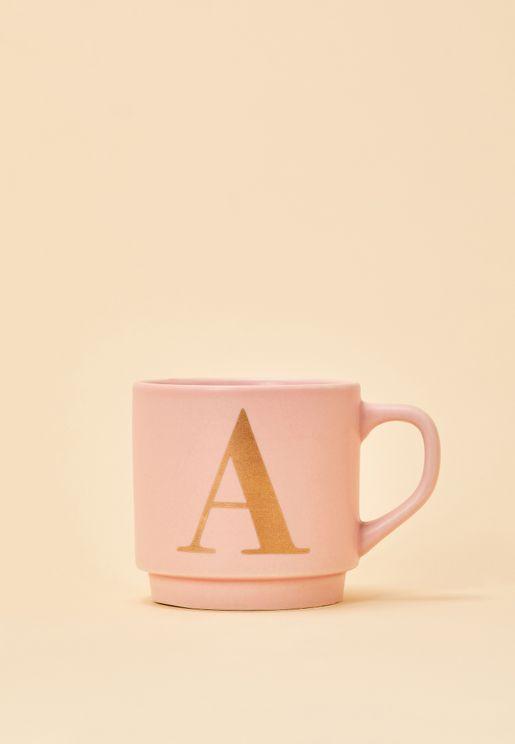 A Initial Signet Mug