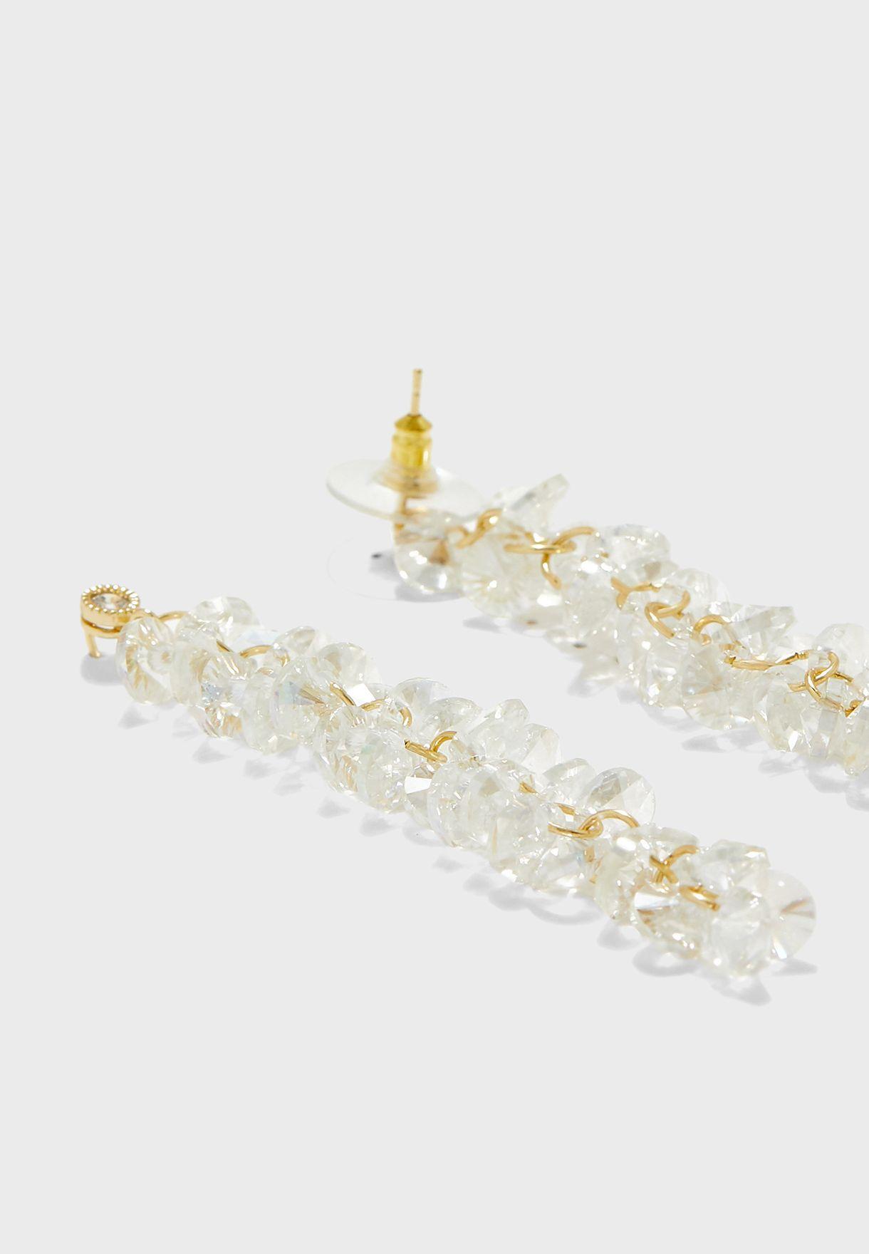 Twisted Stone Drop Earrings