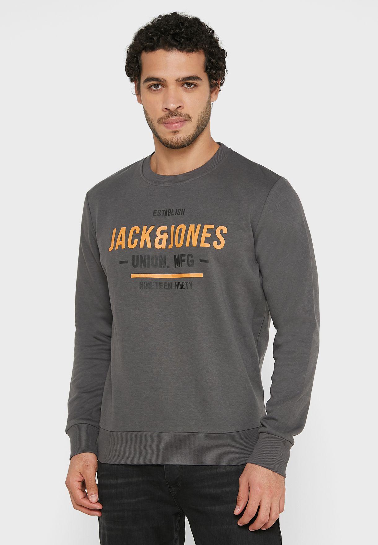 Printed Crew Neck Sweatshirt