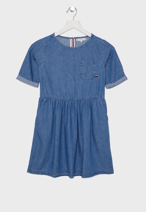 فستان جينز للاطفال