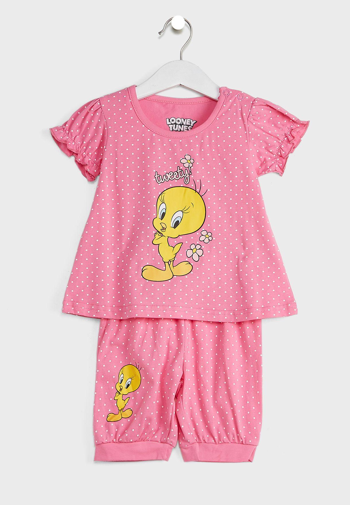 Infant Tweety Top + Shorts Set