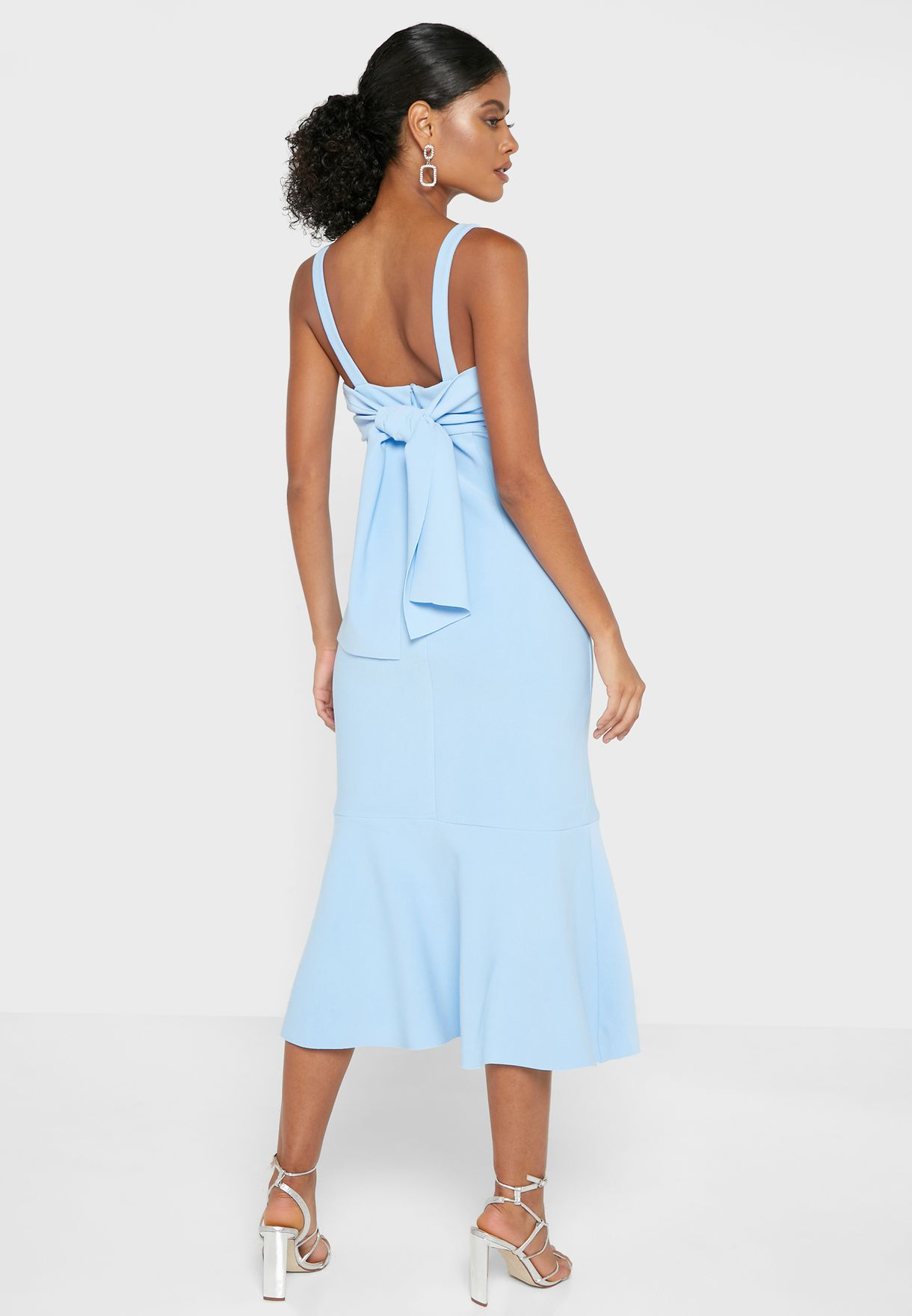 Front Split Pleated Dress