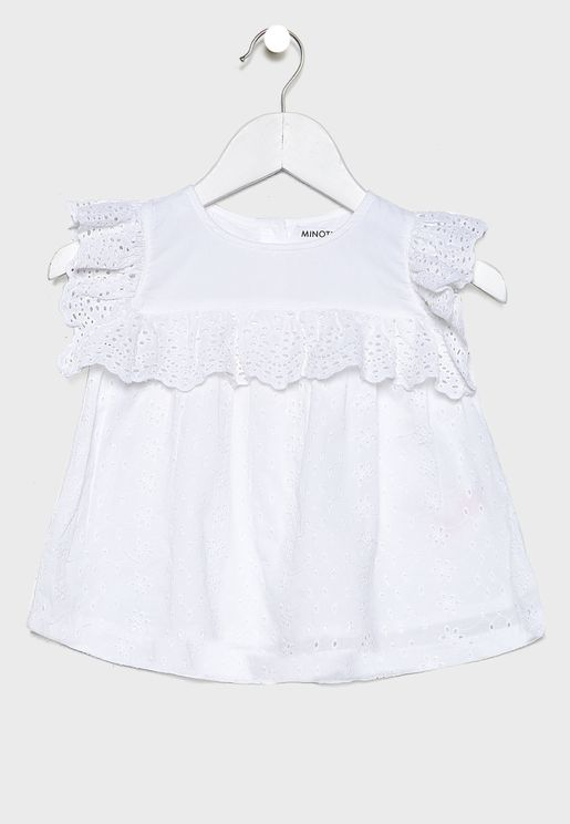 Little Broderie Cotton Top