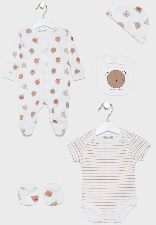 Infant 5 Pack Printed Gift Pack