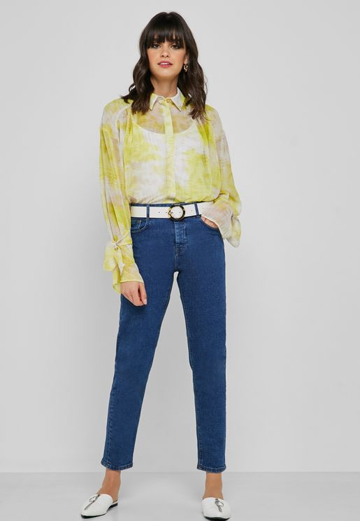 Ankle Grazer Straight Jeans
