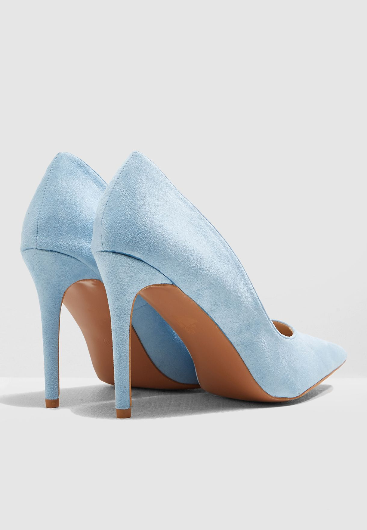c2dda6934 Shop Ella blue Faux Suede Court Shoe HZ8199-1K for Women in Saudi ...