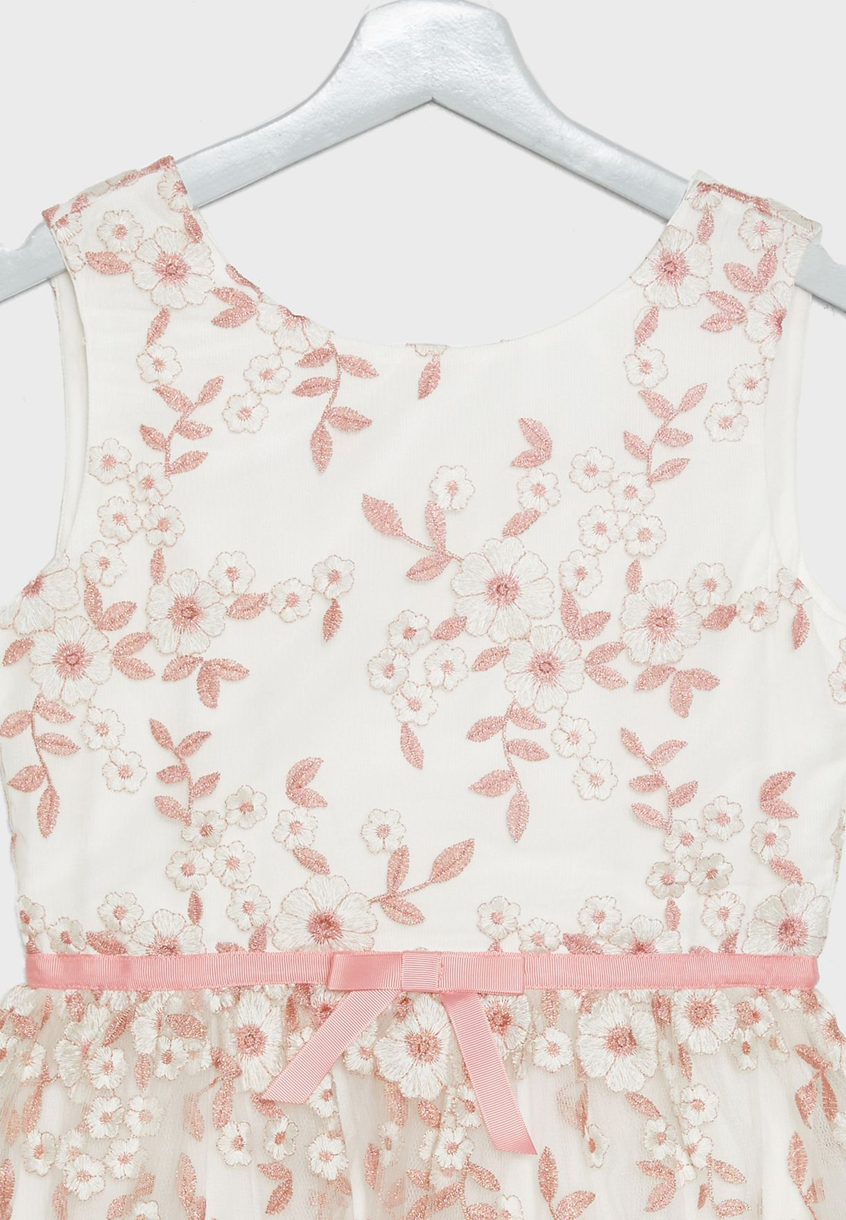 Kids Embroidered Tulle Dress