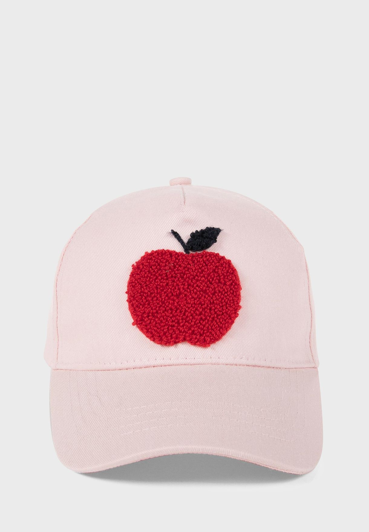 Kids Embroidered Apple Cap