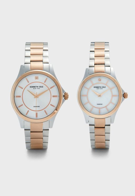 Analog Watch Gift Set