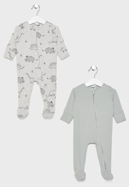 Infant Zip Romper Multipack