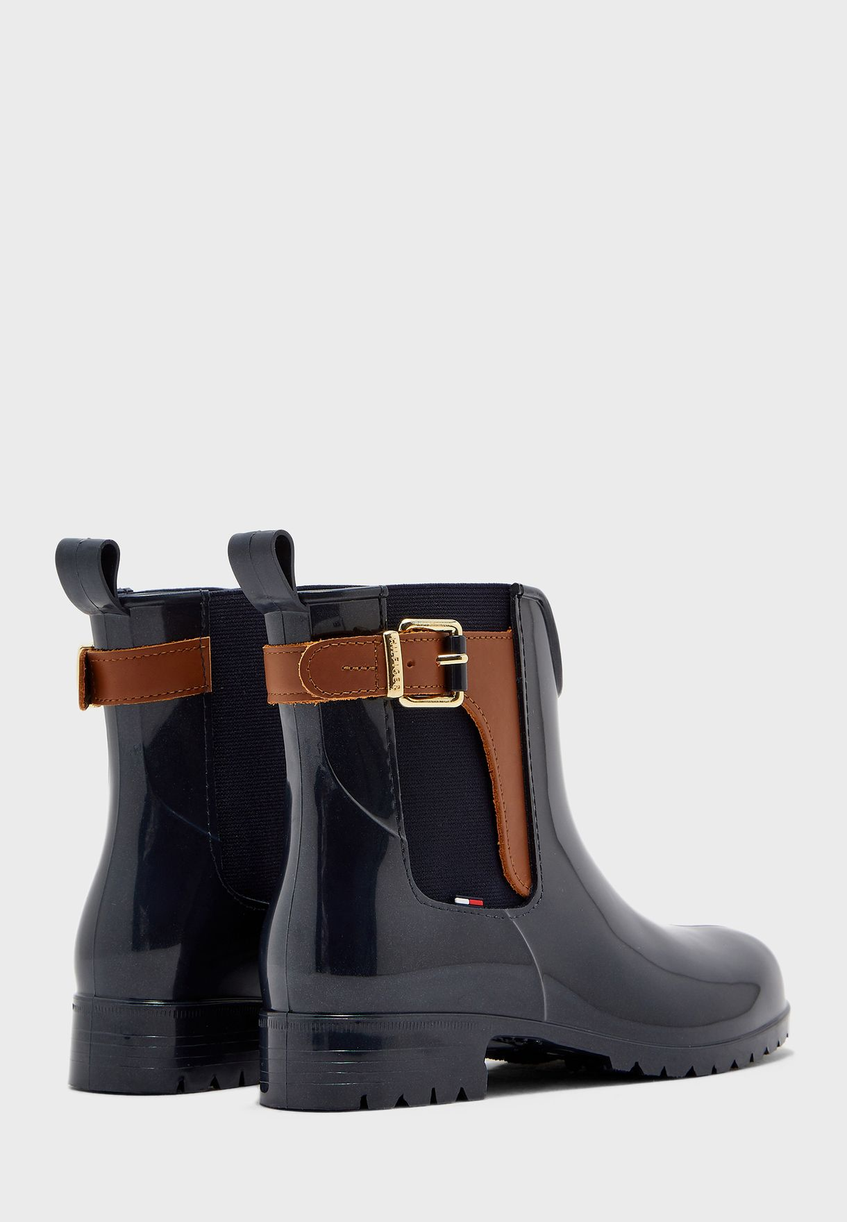 Tommy Hilfiger Buckled Detail Ankle Boot - Brand Shoes