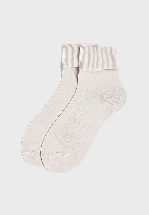 2 Pack Ribbed Socks