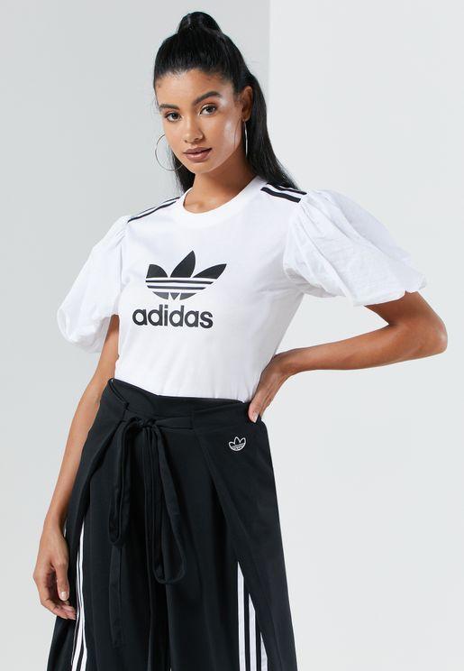 Trefoil Puffer Sleeve T-Shirt