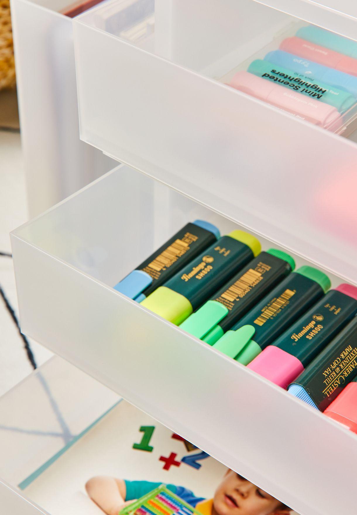 3 Shallow Drawers Storage Case