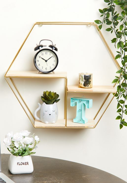 Gold Geo Wire Shelf